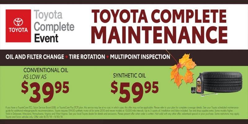 September Toyota Complete Maintenance